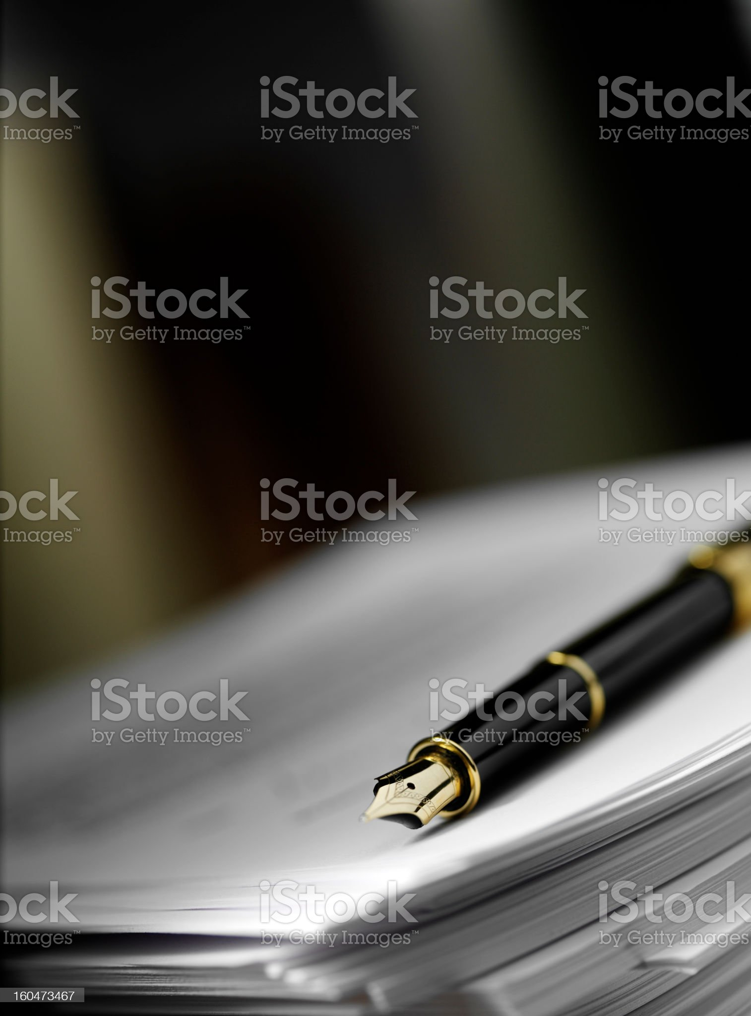 Ink Pen and Paper royalty-free stock photo