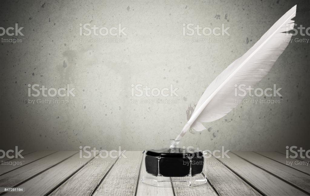 Ink. stock photo