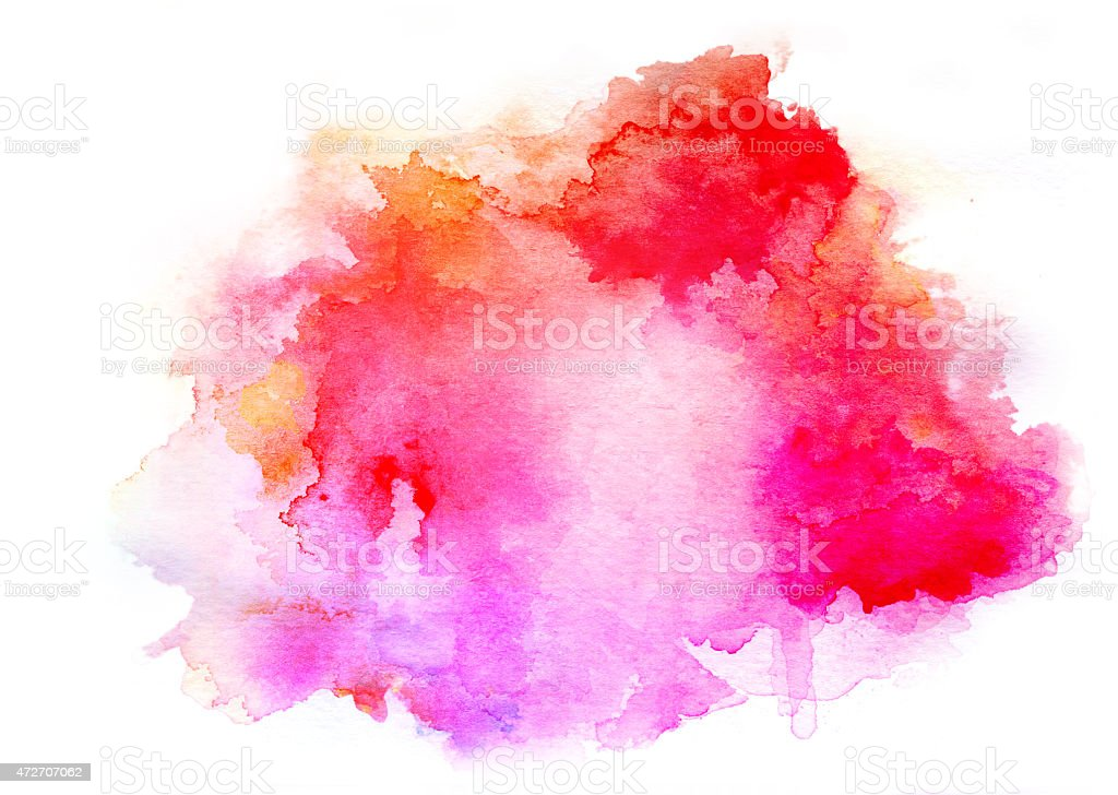 ink pink watercolor background stock photo