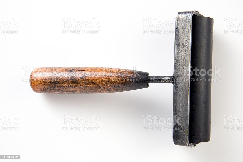 Ink roller stock photo