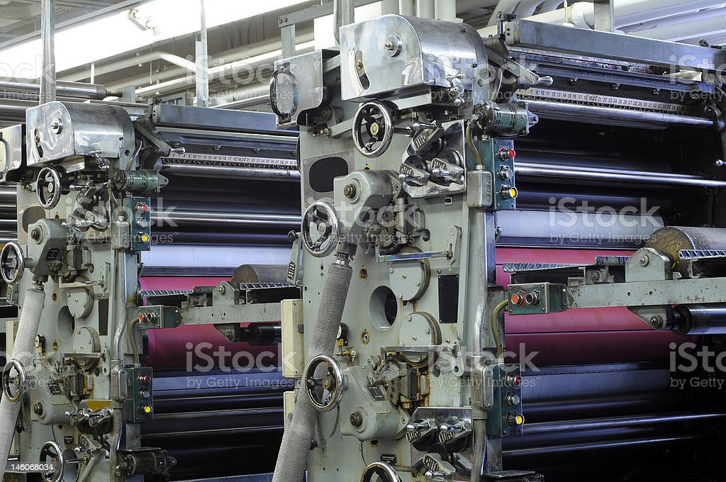 Ink roller units stock photo