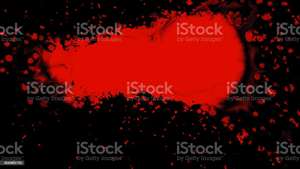 Ink Splatter Over Transparent Background with Alpha stock photo