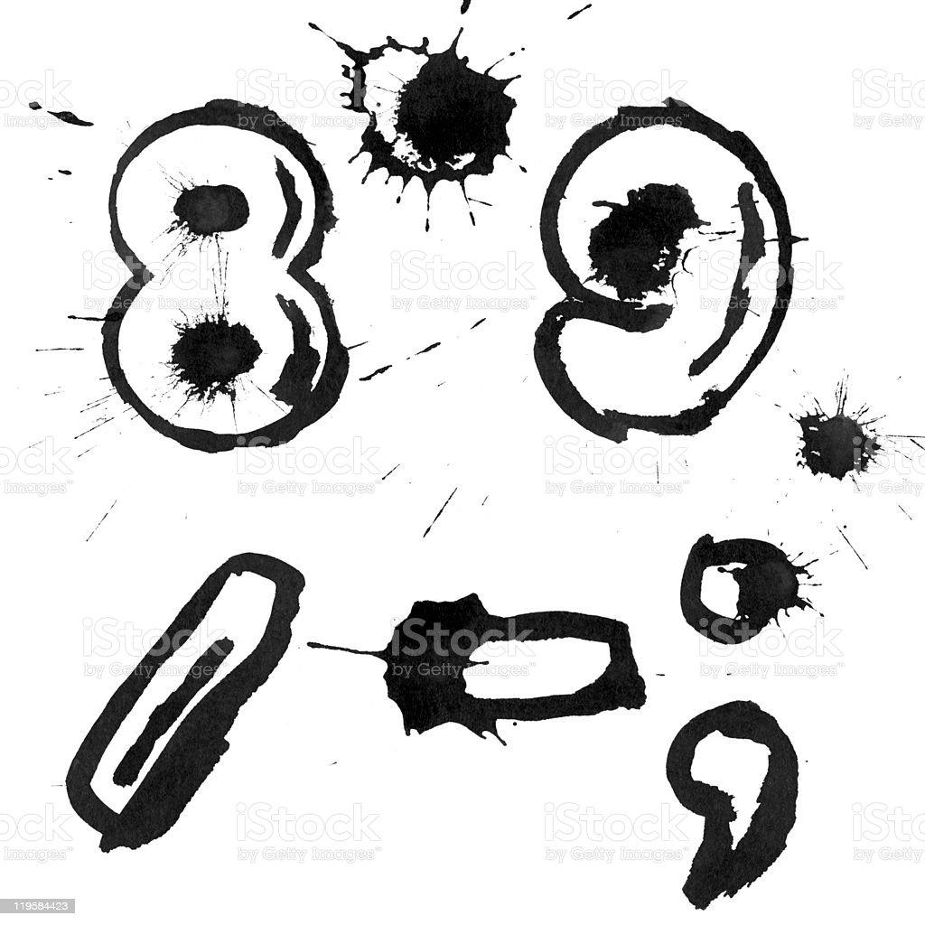 Ink symbols royalty-free stock photo