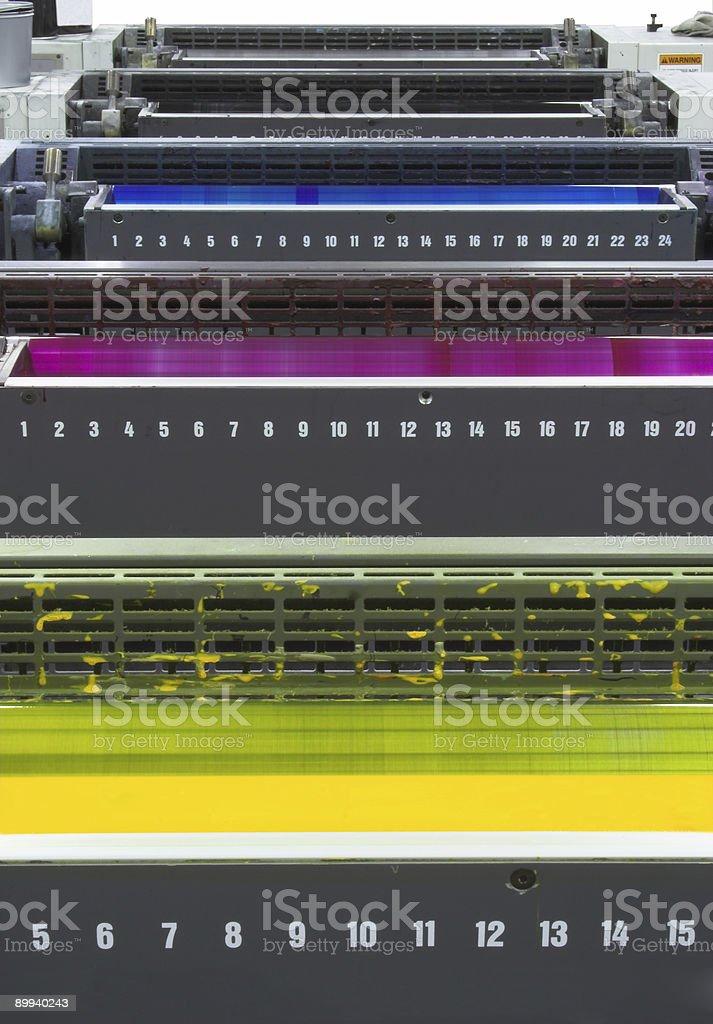 CMYK Ink Units stock photo