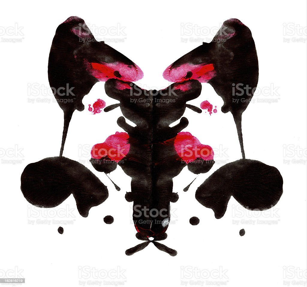 Inkblot stock photo