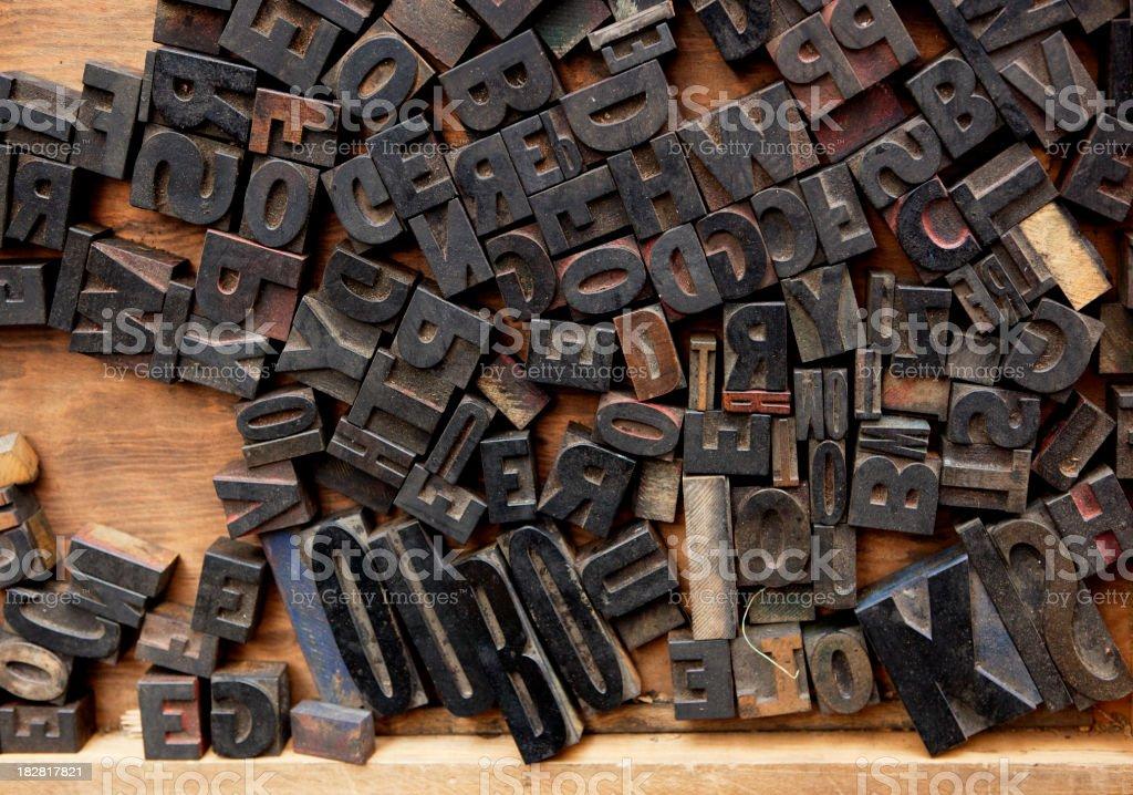 Inked Press Blocks stock photo