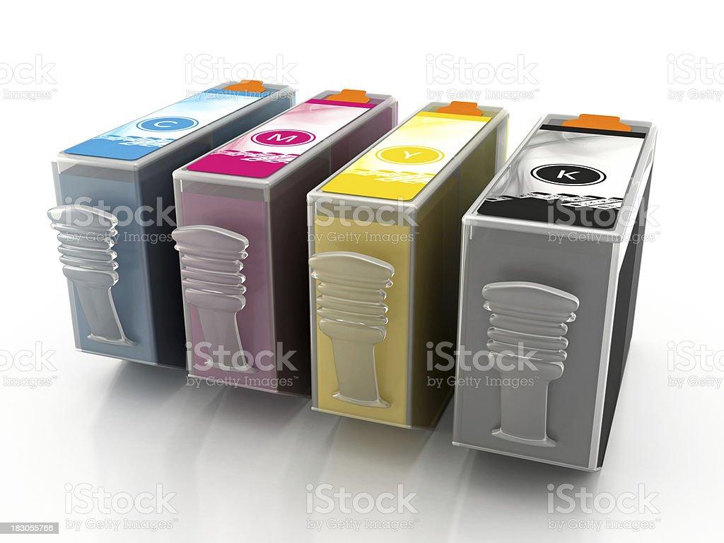 Inkjet printer cartridges royalty-free stock photo