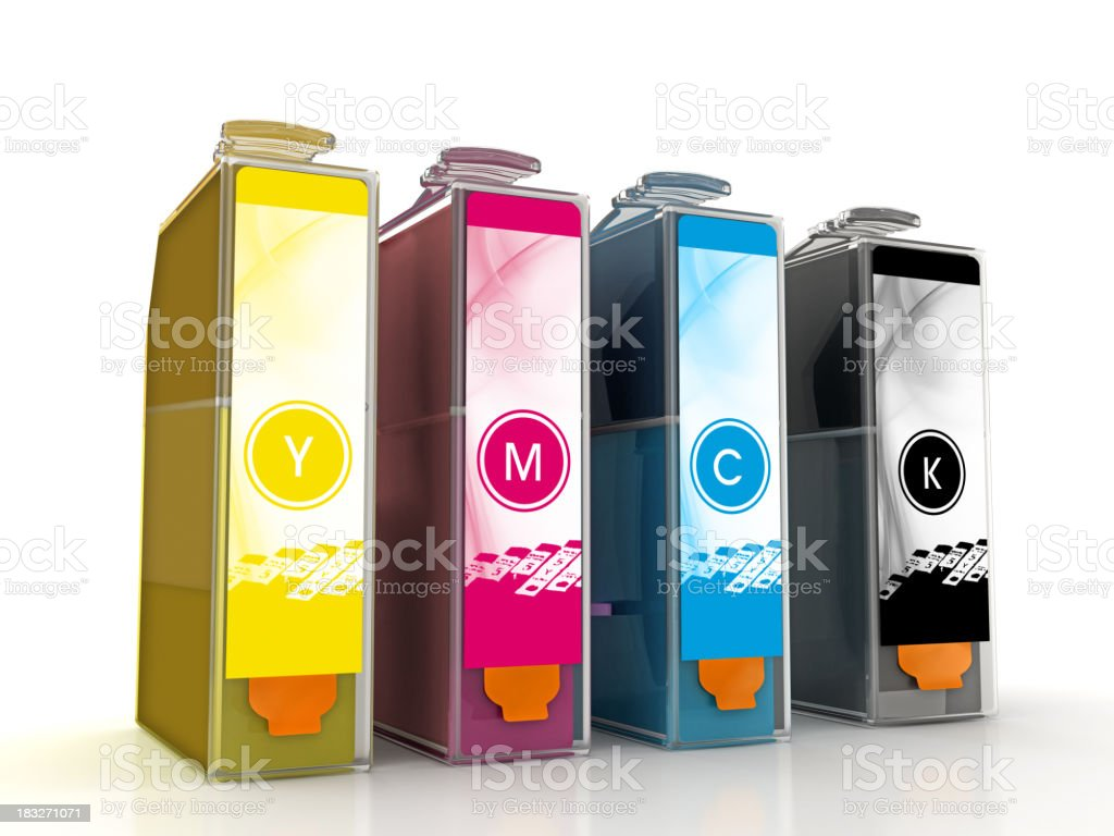 Inkjet printer cartridges stock photo