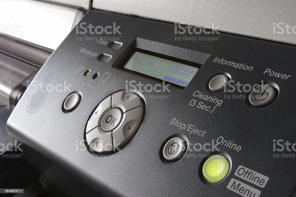 Inkjet Printer Panel royalty-free stock photo