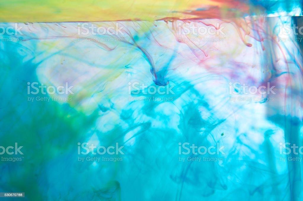 잉크 물, 백색과 추상화 royalty-free 스톡 사진