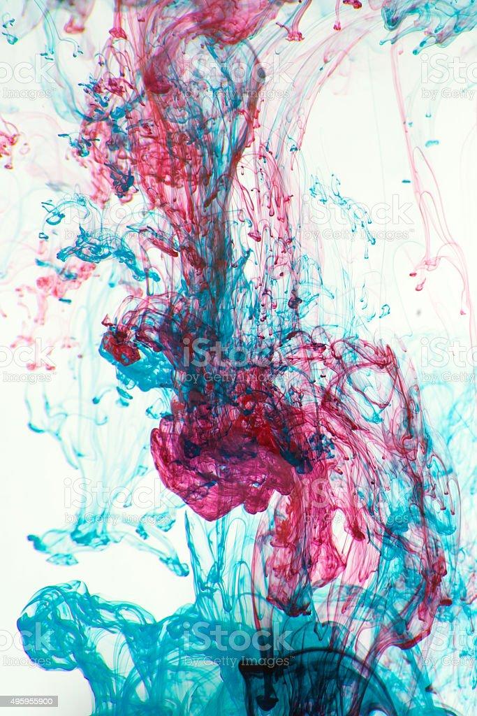 잉크 물 royalty-free 스톡 사진