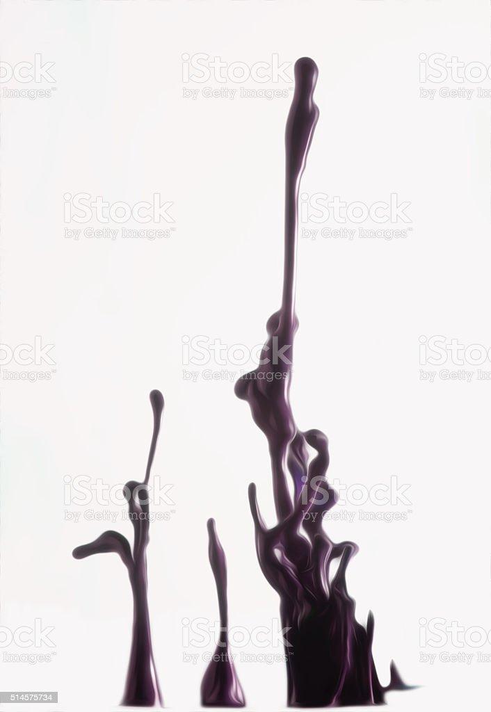 잉크 튀기다 on 흰색 배경 royalty-free 스톡 사진