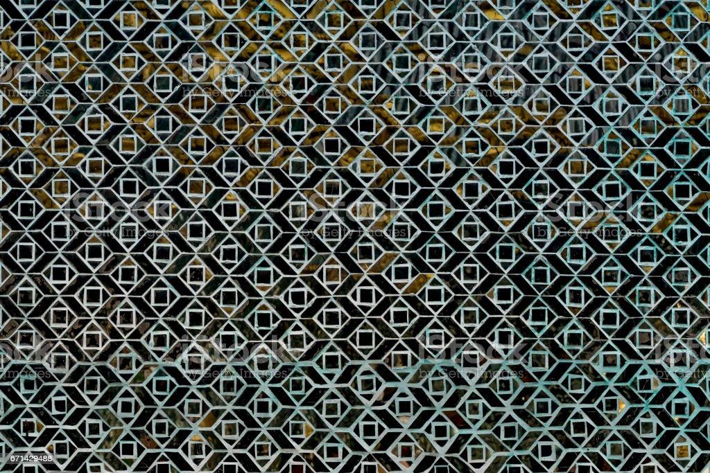 Inlaid mosaic glass, Swedagon Pagoda, Yangon, Myanmar stock photo