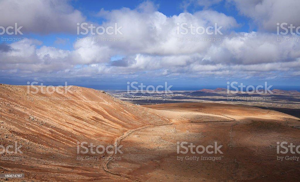 Inland Fuerteventura royalty-free stock photo