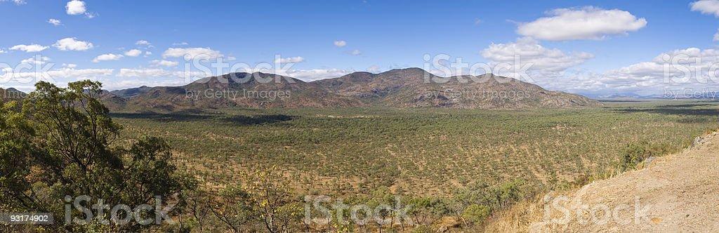 Inland road through Cape York Peninsula stock photo