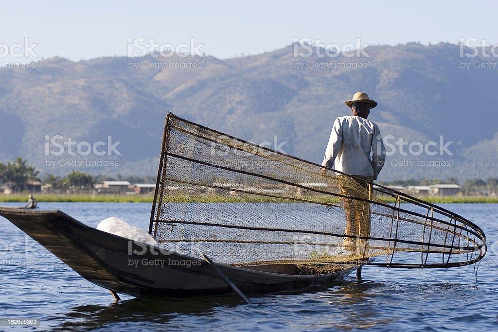 Inle fisherman II stock photo