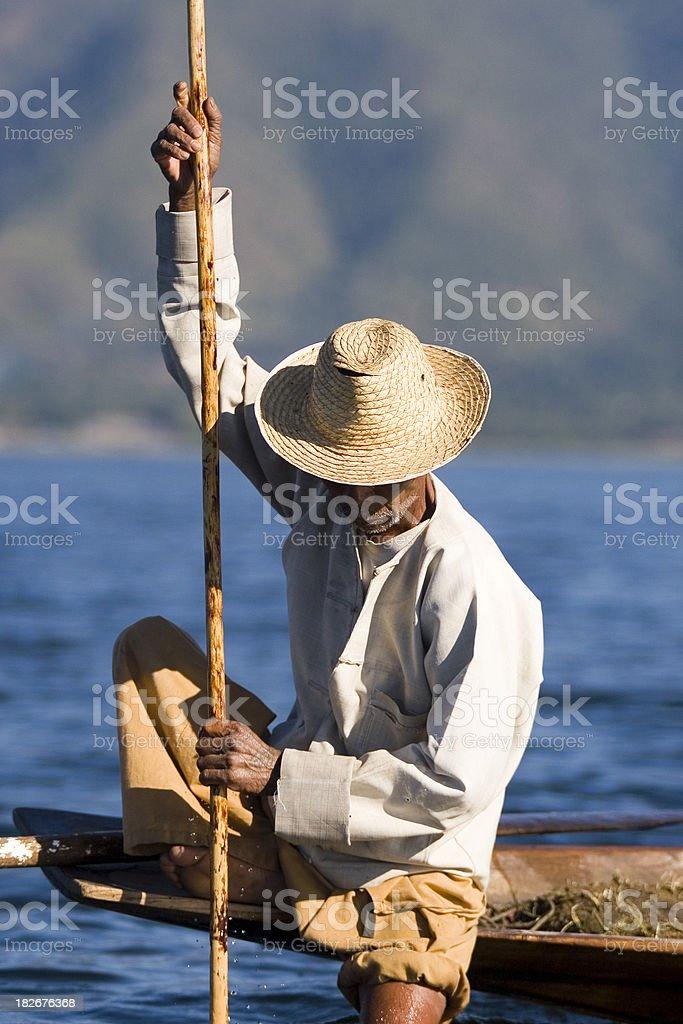 Inle fisherman stock photo