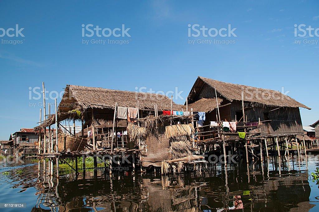Inle Floating Village stock photo