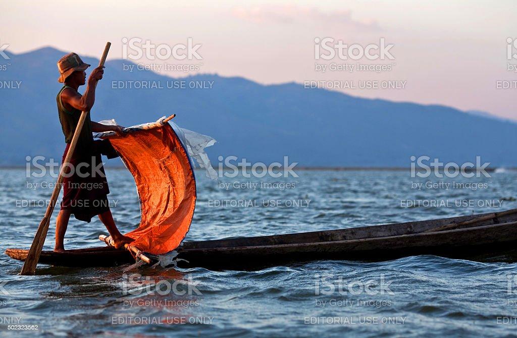 Inle lake in Shan state, Myanmar stock photo