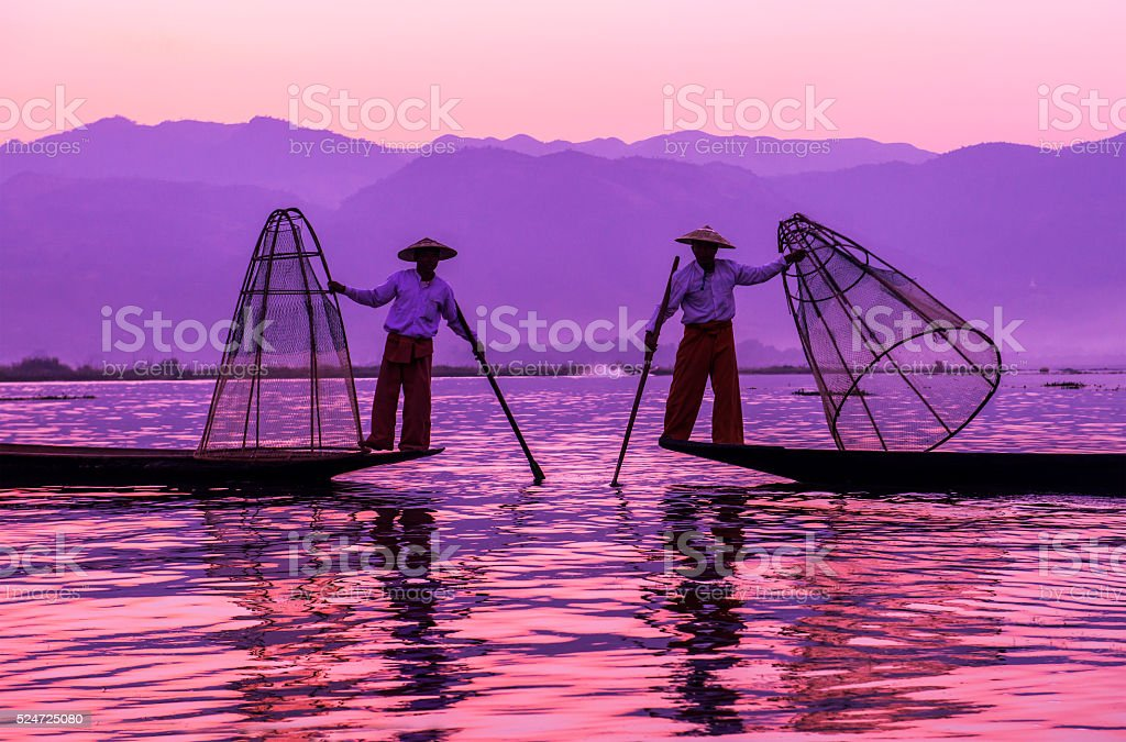 Inle lake Myanmar stock photo
