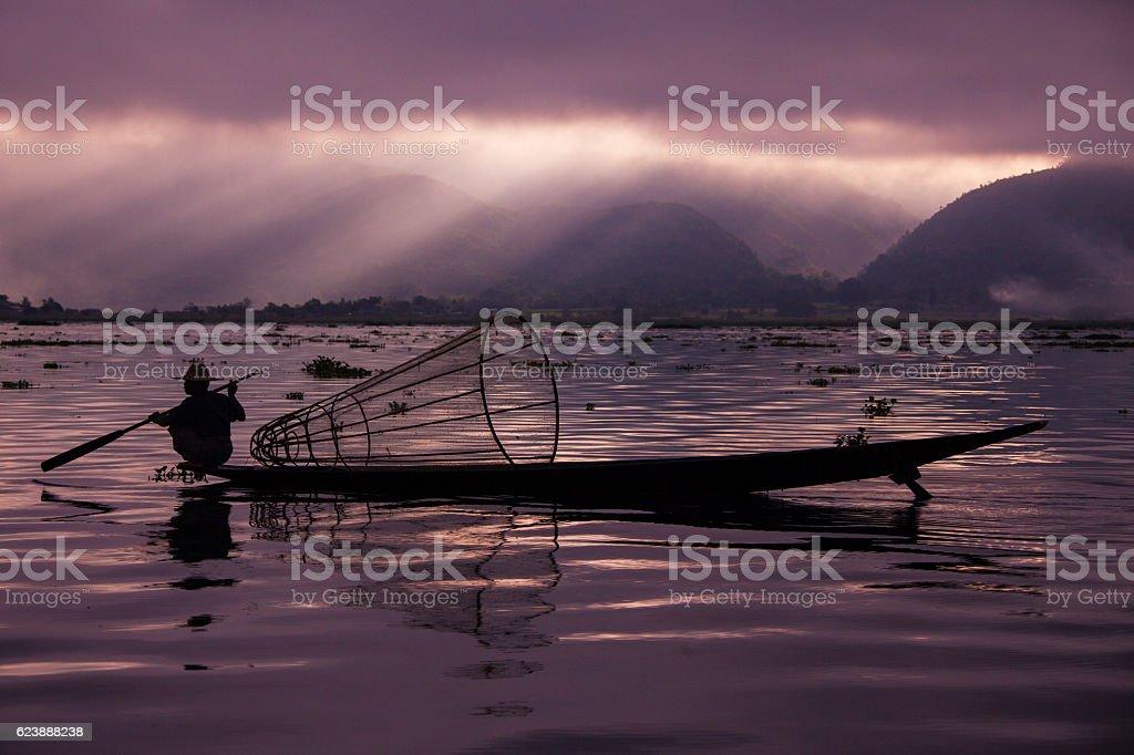 Inle lake stock photo