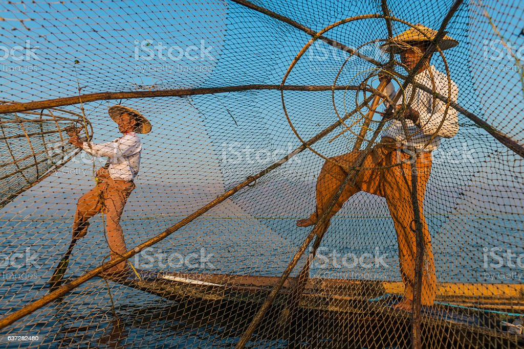 Inle lake stock photo