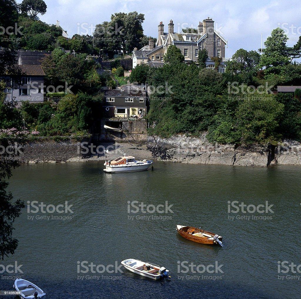 Inlet on River Dart. Dartmouth, Devon, England stock photo