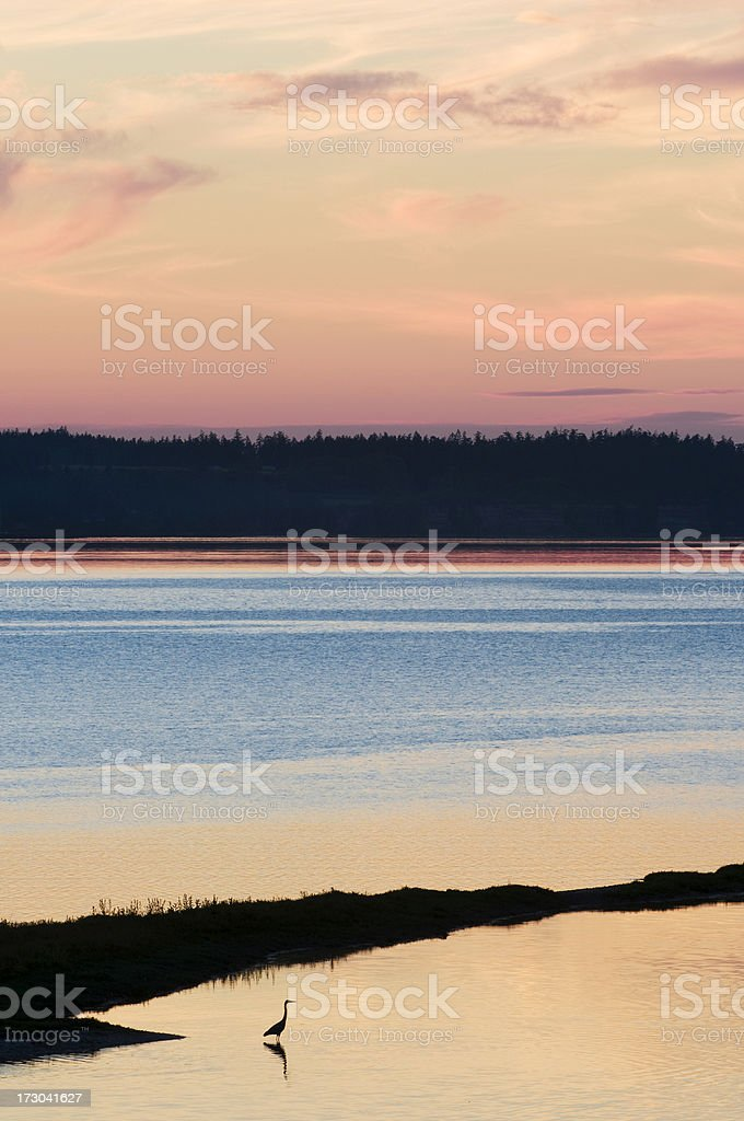 Inlet Sunset royalty-free stock photo