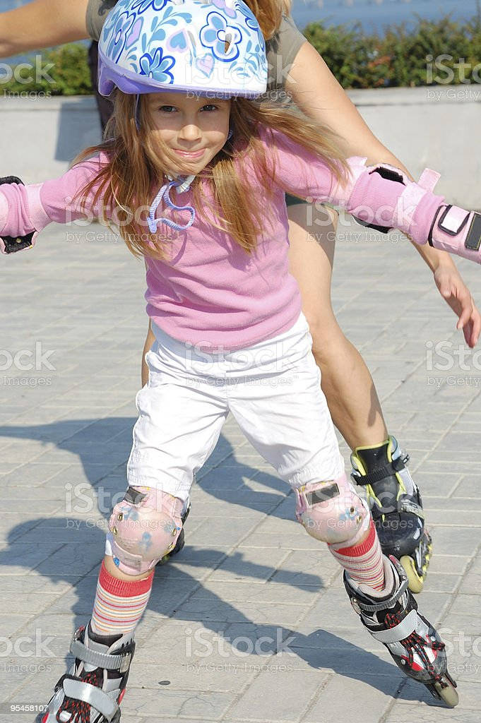 inline rollerblade child royalty-free stock photo
