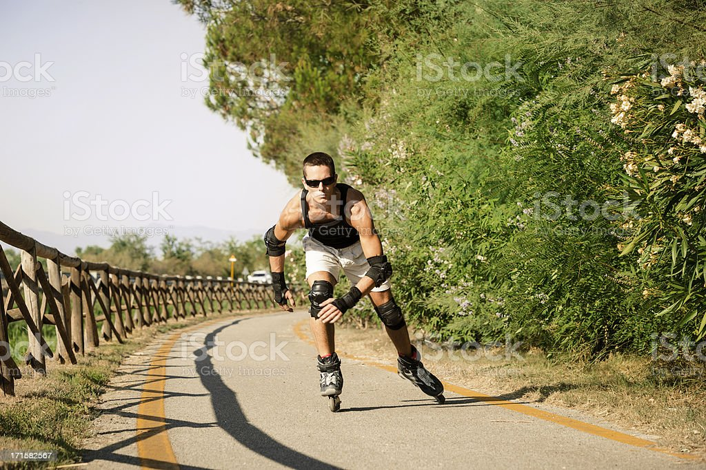 Inline Skater in action stock photo