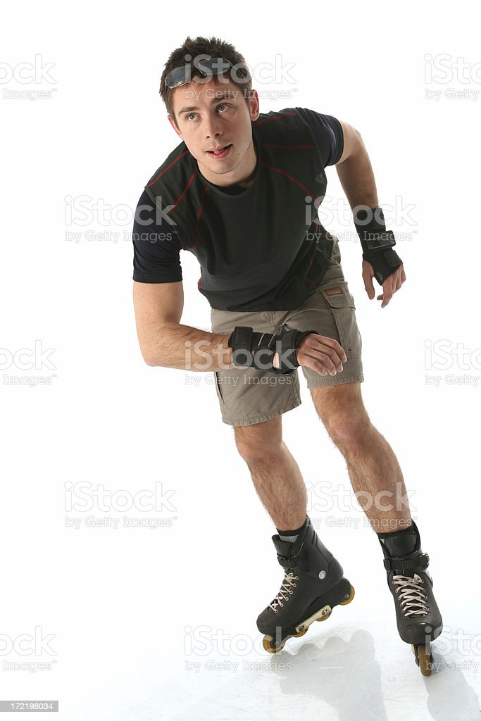 in-line skating royalty-free stock photo