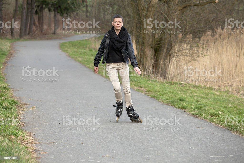 Inline Skating royalty-free stock photo