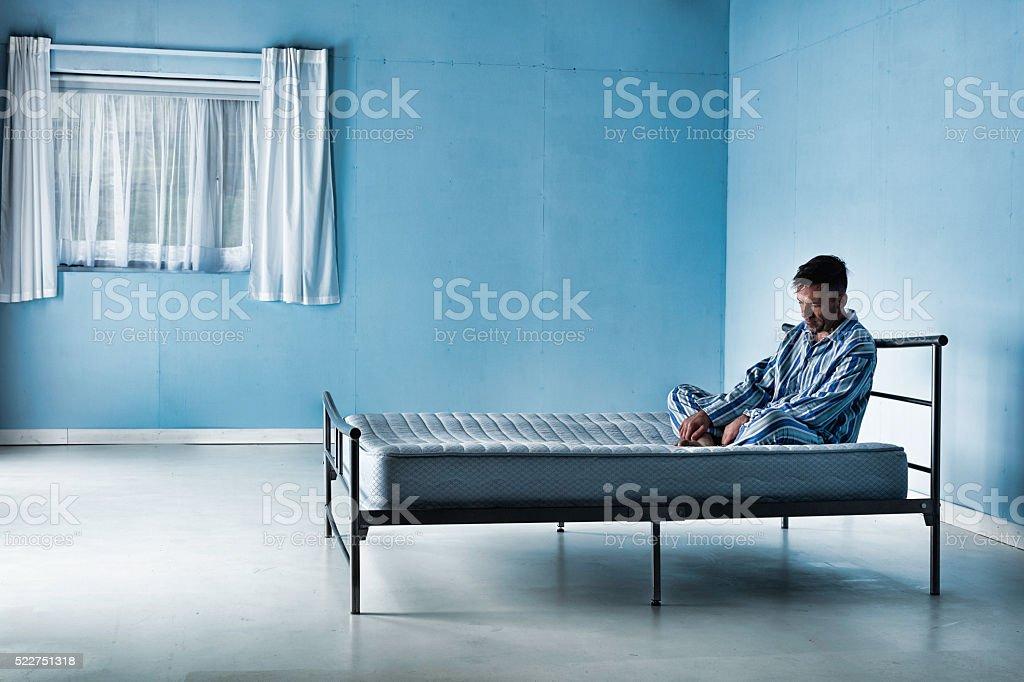 Inmate In An Asylum stock photo