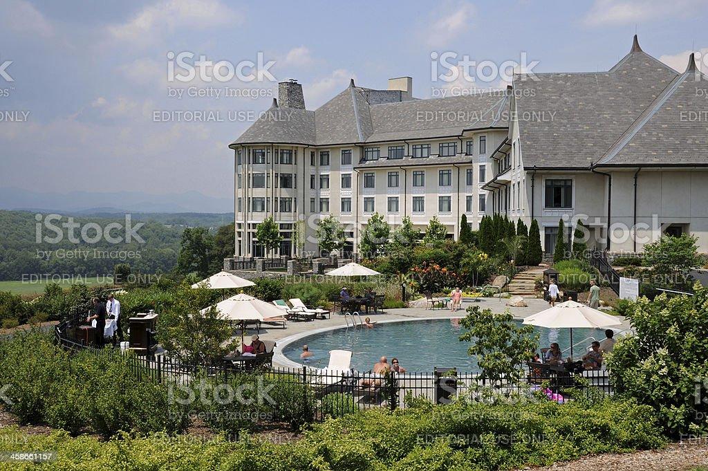 Inn on Biltmore Estate stock photo