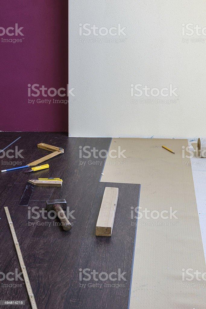Innenausbau stock photo