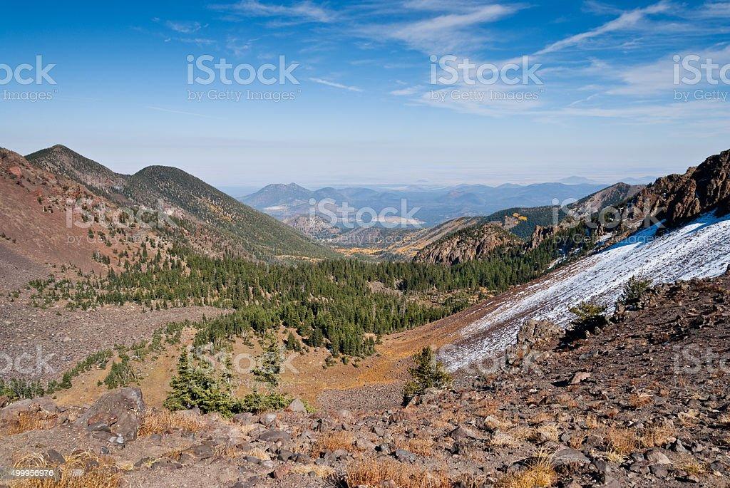 Inner Basin from Humphreys Saddle stock photo