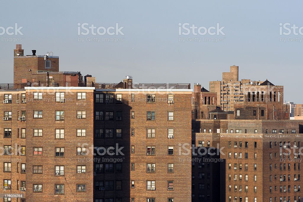 Inner city apartments royalty-free stock photo