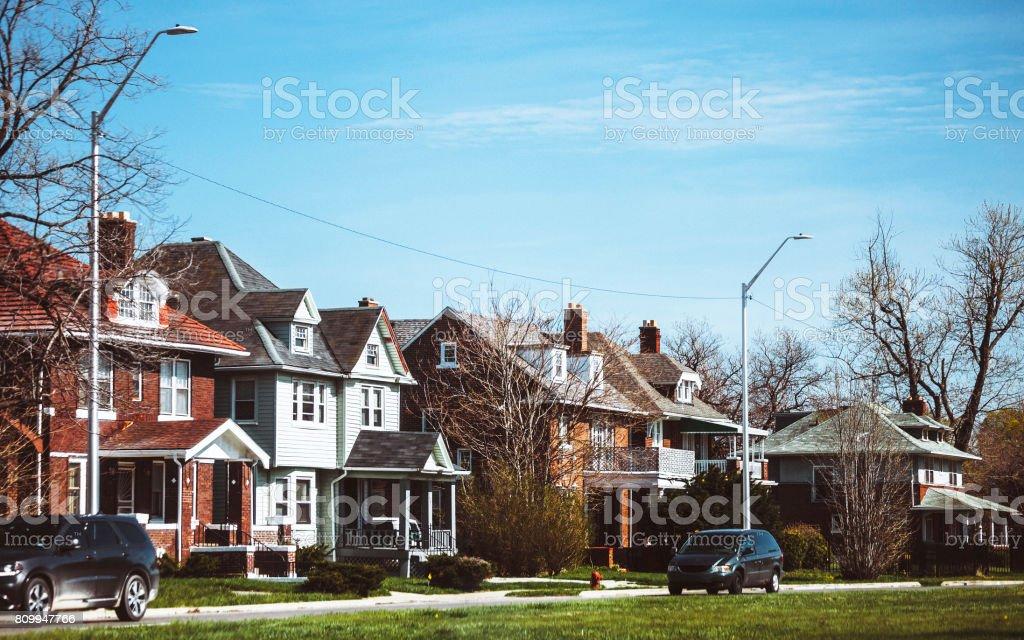 Inner city Detroit stock photo