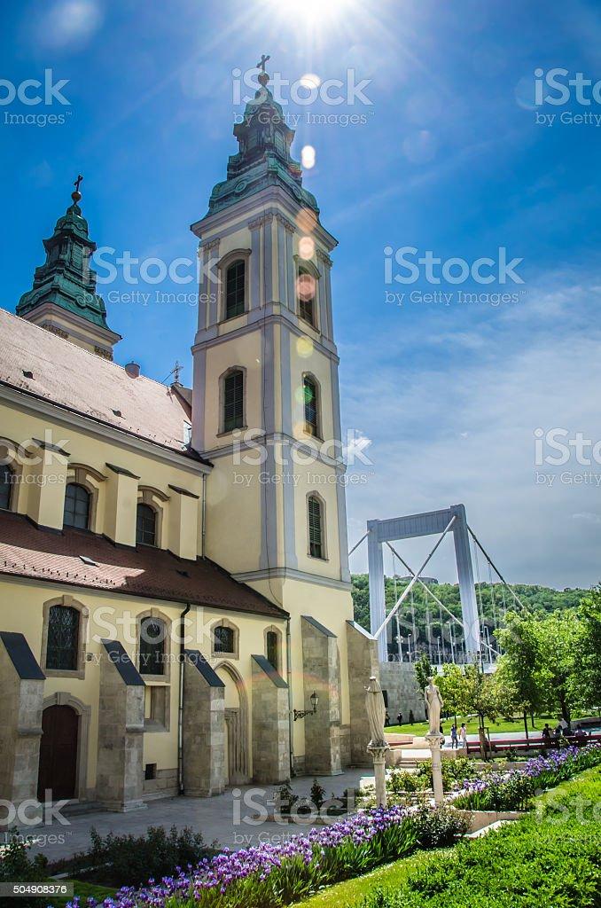 Inner City Franciscan Church stock photo