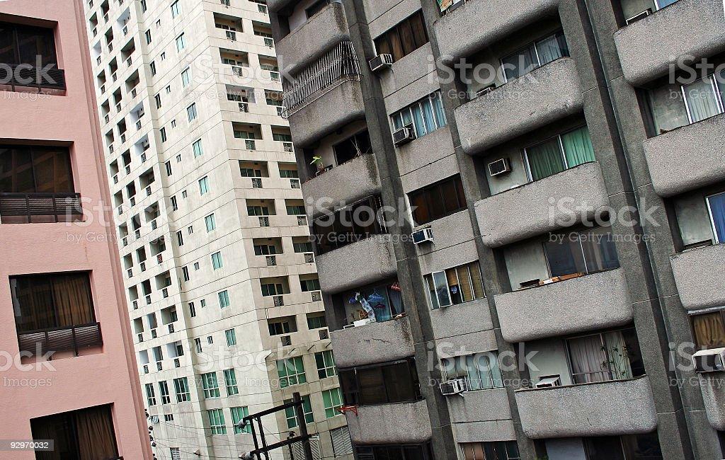 inner city manila apartment blocks royalty-free stock photo