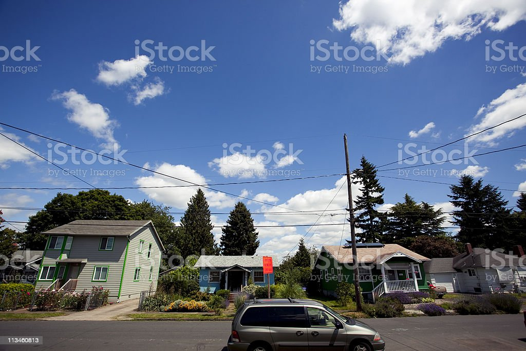 Inner City Neighborhood royalty-free stock photo