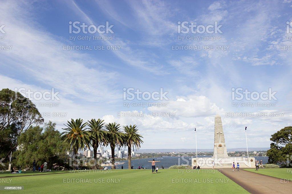 Inner City park stock photo