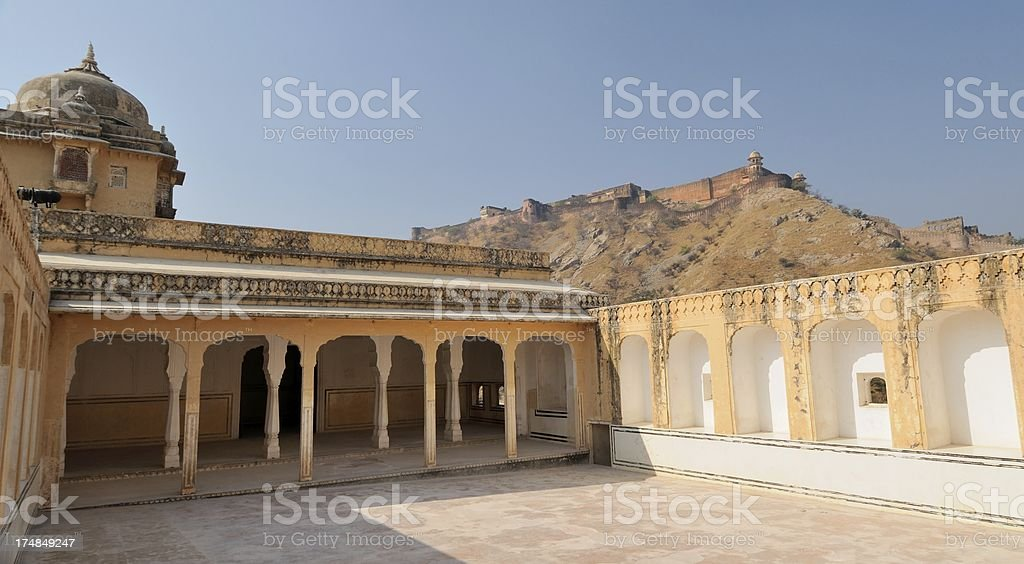 Inner Courtyard Amber Palace royalty-free stock photo