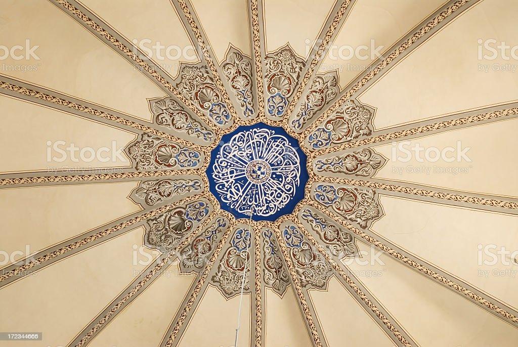 Inner Dome of Little Hagia Sophia royalty-free stock photo