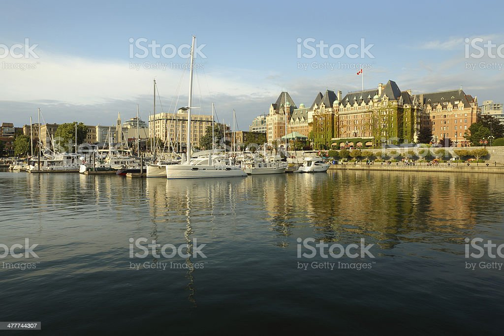 Inner Harbor Afternoon, Victoria, BC stock photo