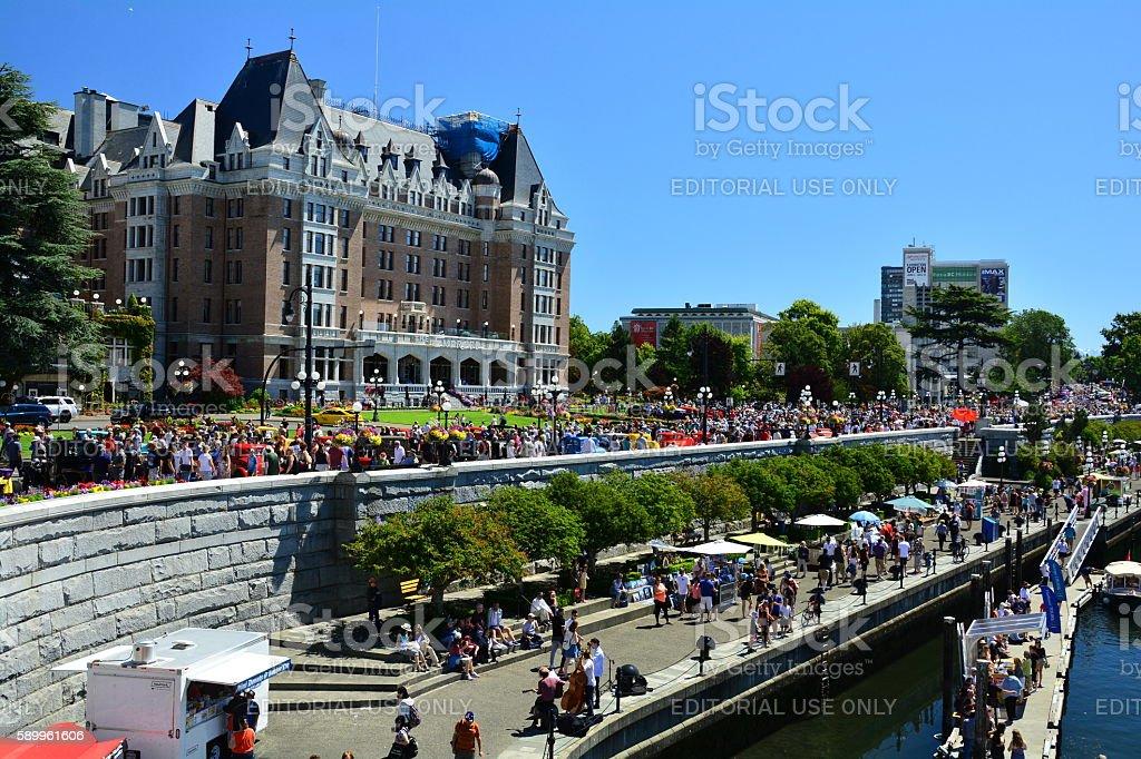 Inner Harbor and Empress Hotel stock photo