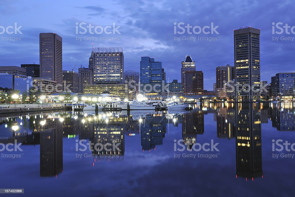 Inner Harbor at Dawn royalty-free stock photo