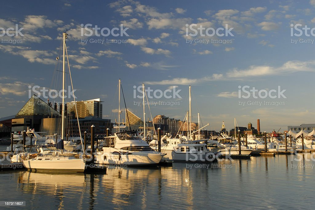 Inner Harbor at Sunset royalty-free stock photo