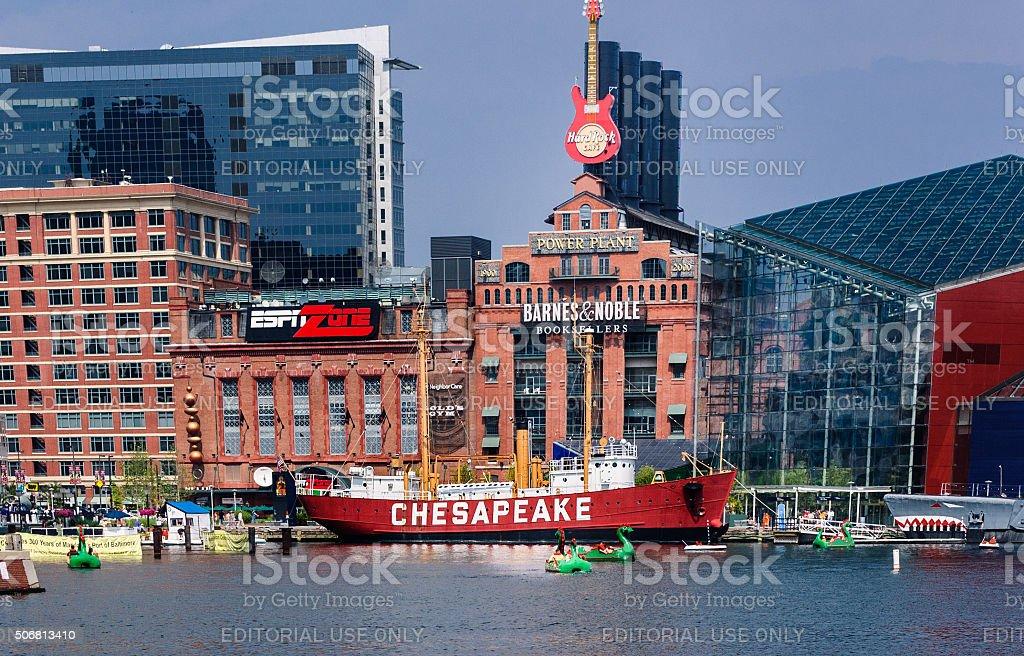 Inner Harbor Attractions stock photo