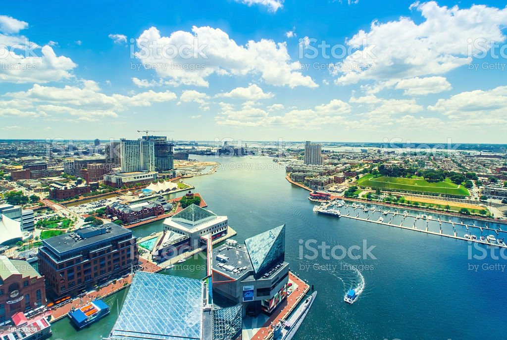 Inner Harbor of Baltimore, Maryland stock photo